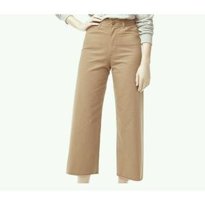 Aritzia High Waist Wide Leg Cropped Pants